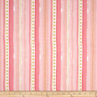 Michael Miller Flannel Sarah Jane Magic Stars And Stripes Pink