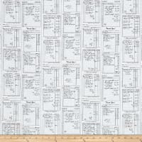 Michael Miller Main Street Shop Receipts Graphite