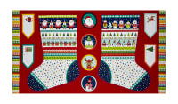 "Novelty Christmas Large Stocking 23.5"" Panel Bright"