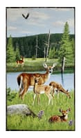 "Oh Deer! Large 24"" Panel Multi"