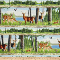 Oh Deer! Repeating Stripe Multi