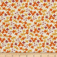 Autumn Road Tiny Flowers Tan