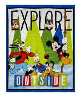 "Disney Mickey and Friends Explore Outside 36"" Panel Multi"