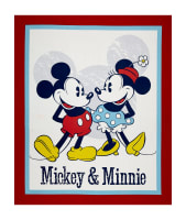 "Disney Mickey & Minnie Vintage Mickey & Minnie Vintage 24"" Panel Red"