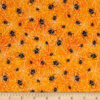 Under a Spell Spider Web Allover Orange/Black