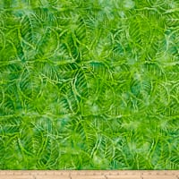 Wilmington Batiks Packed Leaves Lime Green