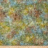 Wilmington Batiks Petal Burst Green