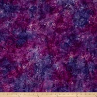 Wilmington Batiks Scroll Purple