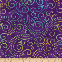 Wilmington Batiks Scroll Dark Purple