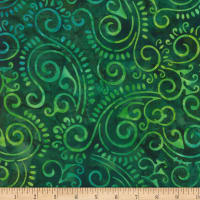 Wilmington Batiks Scroll Green