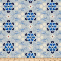 Cotton + Steel S.S. Bluebird Diner Floral Blue