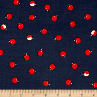 Cotton + Steel S.S. Bluebird Apples Navy