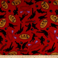 Polar Fleece Lacrosse Red