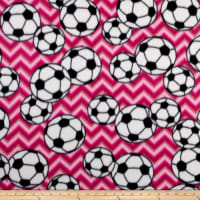 Fleece Chevron Soccer Fuchsia