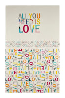 "Art Gallery Letters All You Need Is Love 24"" Panel"