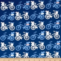 Art Gallery Inblue Jersey Knit Fietsen Intense