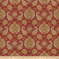Fabricut Broa Linen Blend Exotic Red