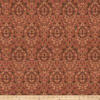 Fabricut Eureka Damask Faux Silk Exotic Red