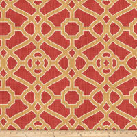 Fabricut Hakata Lattice Rouge