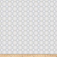 Fabricut Heinz Lattice Embroidered Canvas Summer