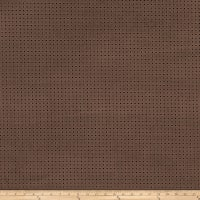 Fabricut Perforated Faux Suede Mocha