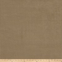 Fabricut Perforated Faux Suede Sesame