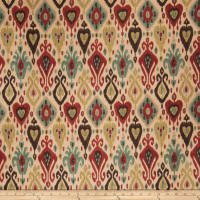 Fabricut Outlet Tervis Linen Blend Exotic Red