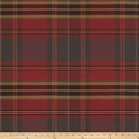 Fabricut Values Twill Plaid Garnet