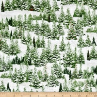 Home For The Holiday Pine Tree Scenic Green