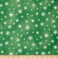 Just Chillin' Snowflakes Green