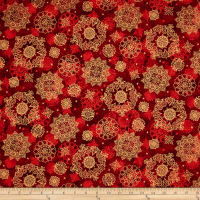 In Bethlehem Metallic Medallions Red