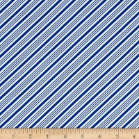 QT Fabrics Frosty the Snowman Everyone's Fav Snowman Diagonal Stripe Royal Blue