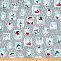 Ink & Arrow Mingle & Jingle Santa's Crew Picture Patches Gray