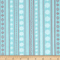 Ink & Arrow Mingle & Jingle Snowflake Stripe Light Wintergreen
