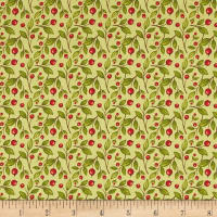 Harvest Greetings Leaf Berry Light Green