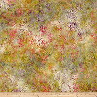 Timeless Treasures Tonga Batik Vineyard Sprigs Natural