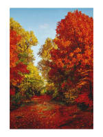"American Byways Digital Print Fall Scenic 30.5"" Panel Autumn"