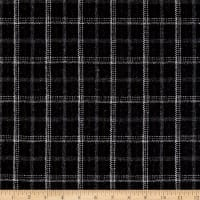 Wool Blend Plaid Black/Brown/Gray