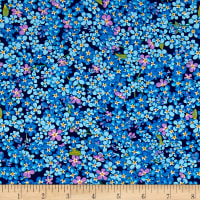 Wildflowers Small Floral Light Navy