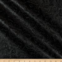 Faux Leather Textured Western Black