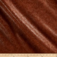 Faux Leather Textured Western Bourbon