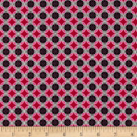 Kanvas Needles & Pins Button Geo Pink