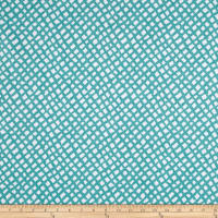 Golding by P Kaufmann Sea Grid Turquoise