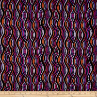 Italian Designer Stretch Sateen Purple/Pink/Rust/Black