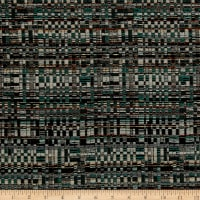 Italian Designer Basketweave Jacquard Green/Cream/Gold