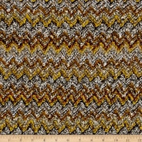 Italian Designer Wool Sweater Knit Boucle Mustard/Brown/Grey