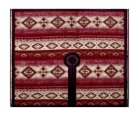 Tribal Print Wool Ruana Poncho Panel Magenta