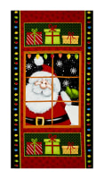 "Jolly Ole' St. Nick 23"" Santa Panel Multi"