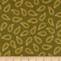 Kim Diehl Winter Cheer Flannel Paisley Green