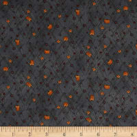Autumn Song Mini Stars And Pumpkins Blue
